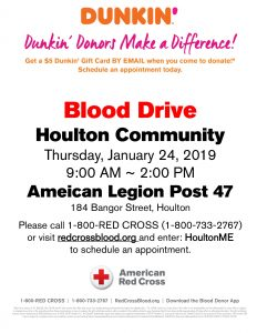 Community Blood Drive @ American Legion Post 47 | Houlton | Maine | United States
