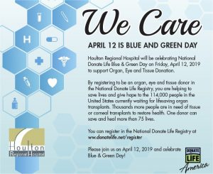 Blue and Green Day @ Houlton Regional Hospital