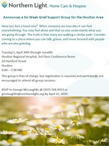 6 Week Grief Support Group @ CCHE,